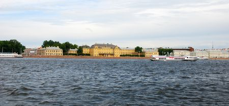 neva: A view of Neva river in St Petersburg Russia