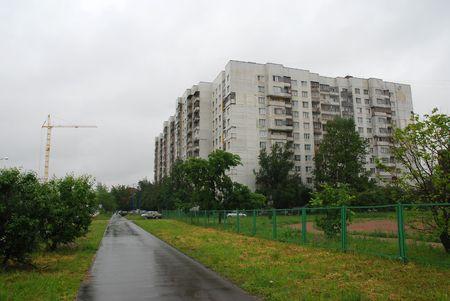 periphery: Sovietic style houses in St Petersburg surroundings