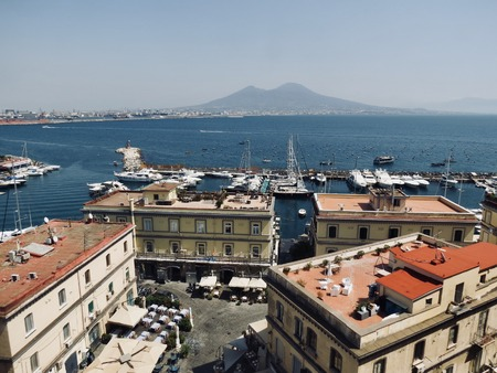 View from Castel dell'Ovo - Il Vesuvio
