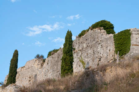 Rocca Aldobrandesca of Castiglione d'Orcia, Tuscany, Italy. Stockfoto