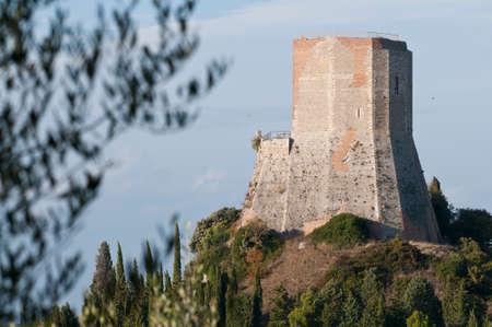 Rocca di Tentennano at Castiglione d'Orcia, Tuscany, Italy.