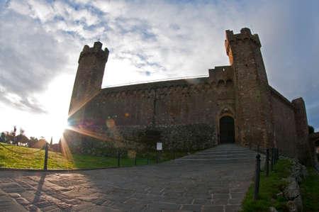Montalcino castle, Tuscany, Italy.