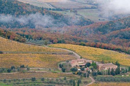 Montalcino landcape, Tuscany, Italy.