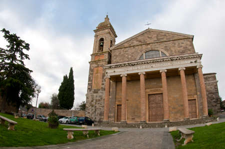 Cathedral of San Salvatore, Montalcino, Tuscany, Italy.
