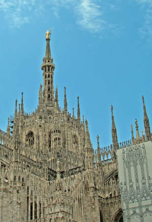 steeples: steeples and towers of the Cathedral of Milan