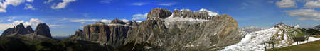 fassa: 360 � views of the Dolomites of the Fassa Valley in the summer with the arrival Belvedere cable car