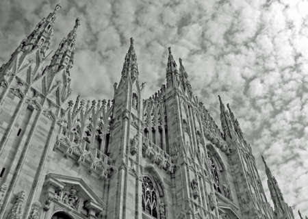 Majestic pinnacles of Milan Cathedral in Italy  photo