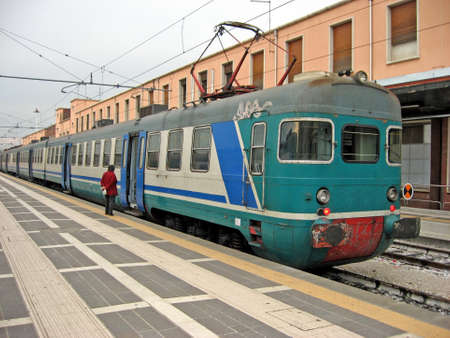 a train in the station waiting for the passengers  Stock Photo - 9364436