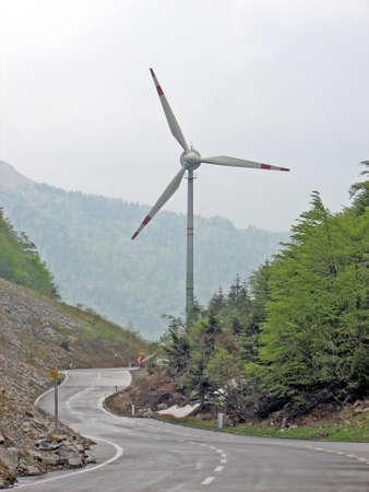 pult: turbina di elica per la produzione di energia elettrica pulita  Archivio Fotografico