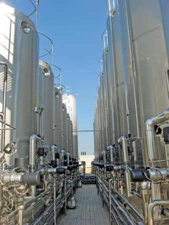 contenimeto giant silos of liquids such as milk and wine Stock Photo - 9363481