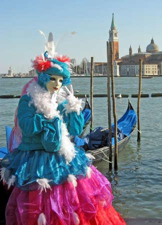 bunte Karneval Maske auf dem Display in Venedig  Lizenzfreie Bilder