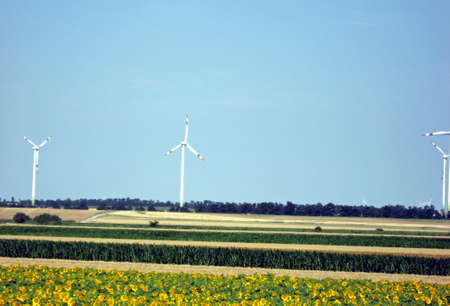 a number of wind turbines that produce green renewable energy in Poland photo