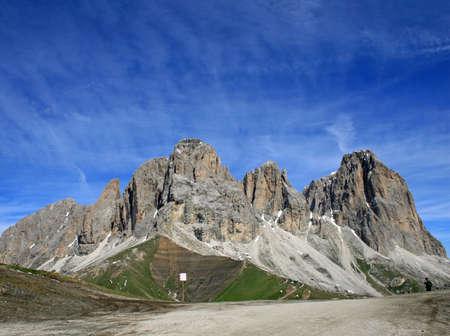 fassa: Sasso lungo mountain landscape of the Dolomites of Val di Fassa  Stock Photo