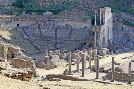 volterra: ancient Roman Theatre in the Etruscan town of volterra in Tuscany