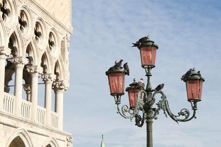 ducale: lamppost in Venice, palazzo ducale
