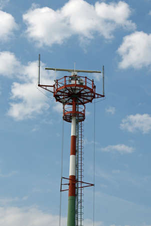 the antennae: new lighthouse beacon with radar and antennae for signaling the coast to cruise ships