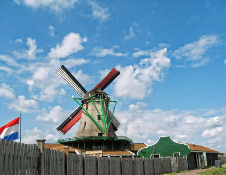 Mill with shovels and Dutch flag Stock Photo - 10869167