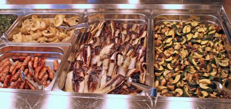 tray of a self service buffet with vegetables Stock Photo - 11114316