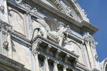 leon alado: estatua del le�n alado de San Marcos en Venecia
