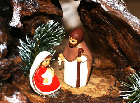Mary and Joseph and the birth of Jesus at Christmas 010 photo