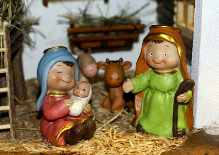 Mary and Joseph and the birth of Jesus at Christmas 014 photo