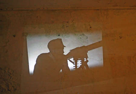 slide the silhouette of a German soldier during World War I photo
