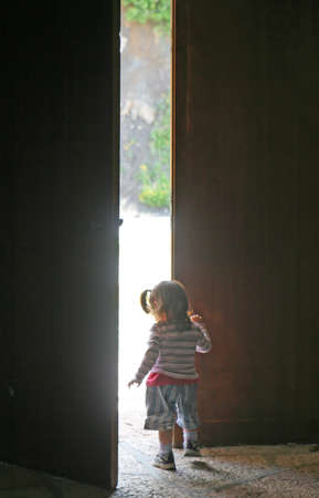 let out: child leaves the door half open