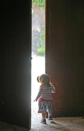 half open: child leaves the door half open