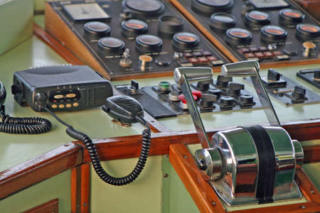 flight deck of a ship with the radio for all communications and control equipment Stock Photo - 12641006