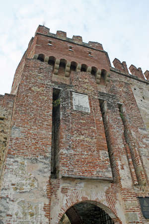 Marostica walls and castle near Vicenza in Italy photo
