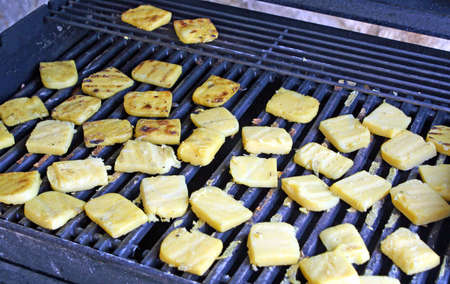 toasted slices of grilled polenta on a farm Stock Photo - 12647365