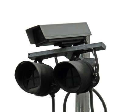 surveillance double cameras and lights anti thief Stock Photo - 12618153