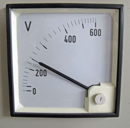 ammeter: voltmeter  for measurement of electrical power line voltage