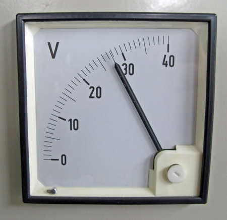 ammeter: voltmeter  for measurement of electrical power line voltage