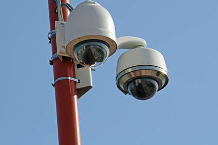 surveillance cameras and CCTV at the stadium in italy