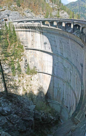 catchment: immense dam of a hydroelectric plant to produce electricity   Stock Photo