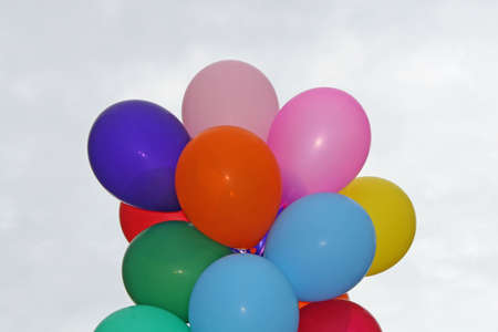 bloat: colorful balloons inflated ready to be sold to children