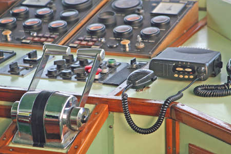 flight deck of a ship with the radio for all communications and control equipment Stock Photo - 13697329