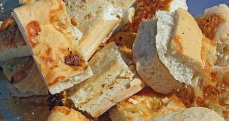 leavening: soft Italian bread with grains of salt homemade sourdough