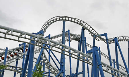 steep path to binaries in a suggestive of a roller coaster track