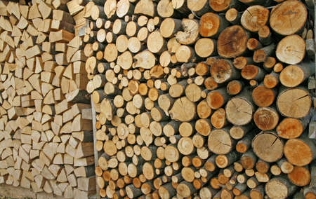 woodshed: woodpile in the Woodshed ready to burn and heat