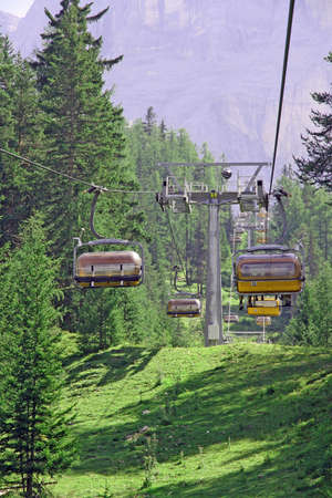 chair lift up to the top of the mountain in summer Stock Photo - 15015962