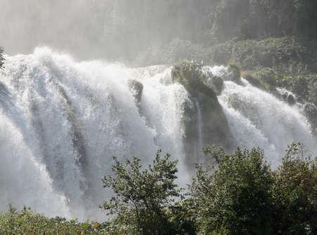 terni: fabulous Marmore Falls in the province of Terni in Italy