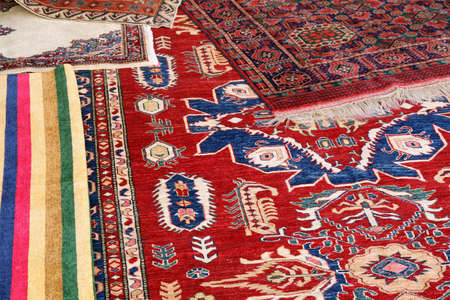 collection of valuable and colorful carpets of Afghan origin Stock Photo - 15500128