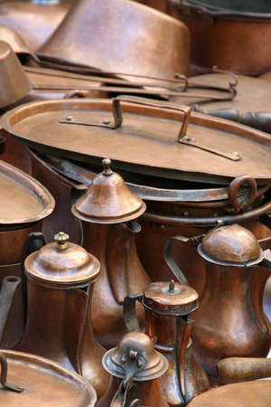 pots and copper antique coffee pots for sale photo
