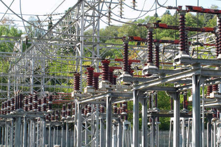 switches of a big high voltage power station Stock Photo - 15398159