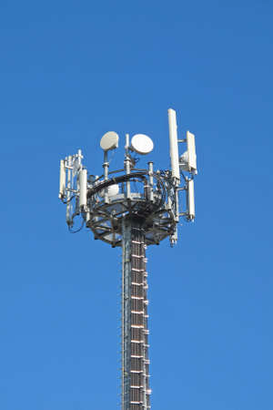 Antennas for the transmission of television signals and cellular mobile phone Stock Photo - 15561888