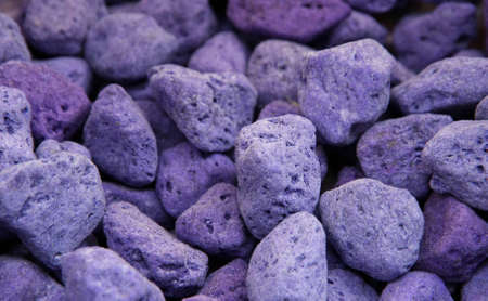porosity: lava and pumice tinted purple and blue used as perfume for drawers