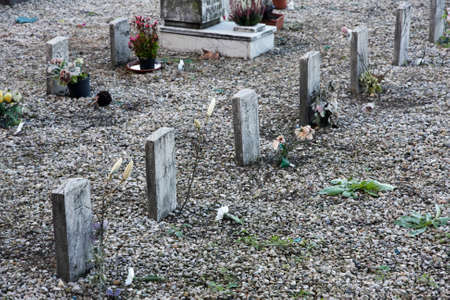 sad little graves of children died very young