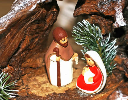 crib Nativity ethnic with the Holy family of Nazareth photo